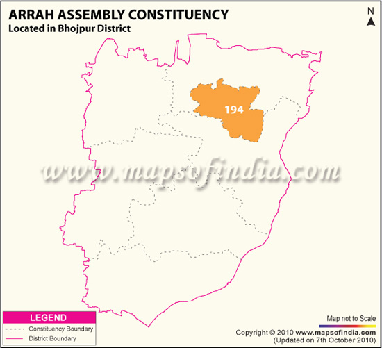 Assembly Constituency Map of Arrah