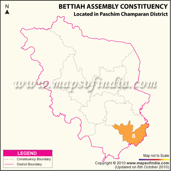 Assembly Constituency Map of Bettiah
