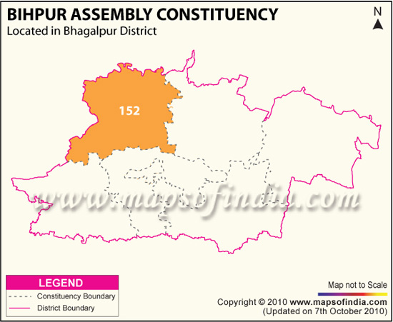 Assembly Constituency Map of Bihpur