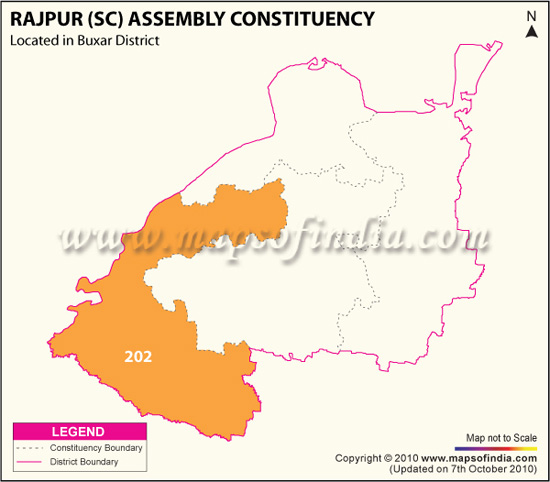 Assembly Constituency Map of Rajpur (SC)