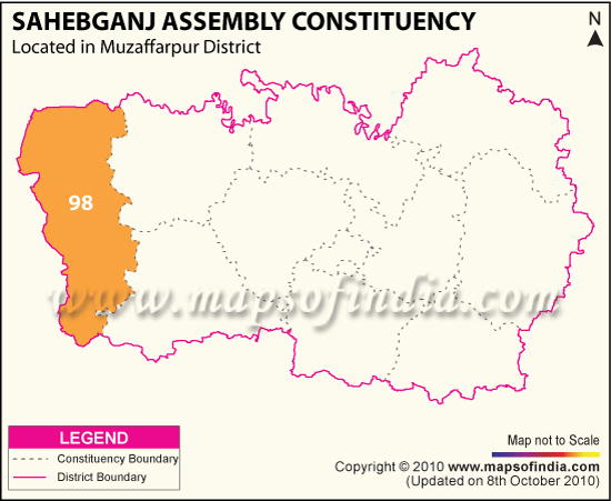 Assembly Constituency Map of Sahebgan