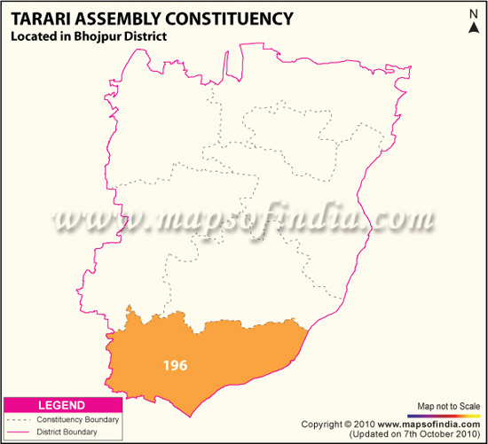 Assembly Constituency Map of Tarari