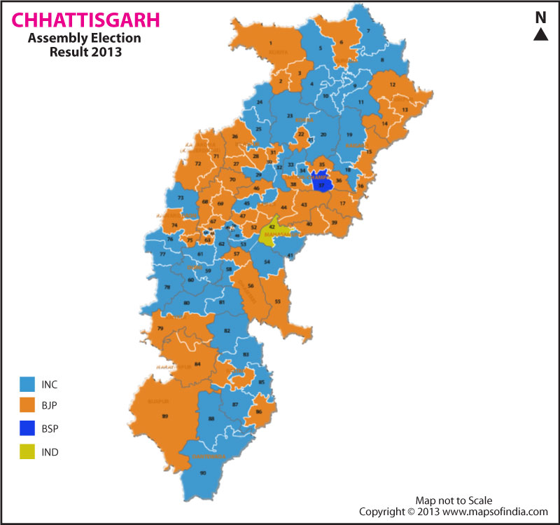 Chhattisgarh Elections 2013 Results