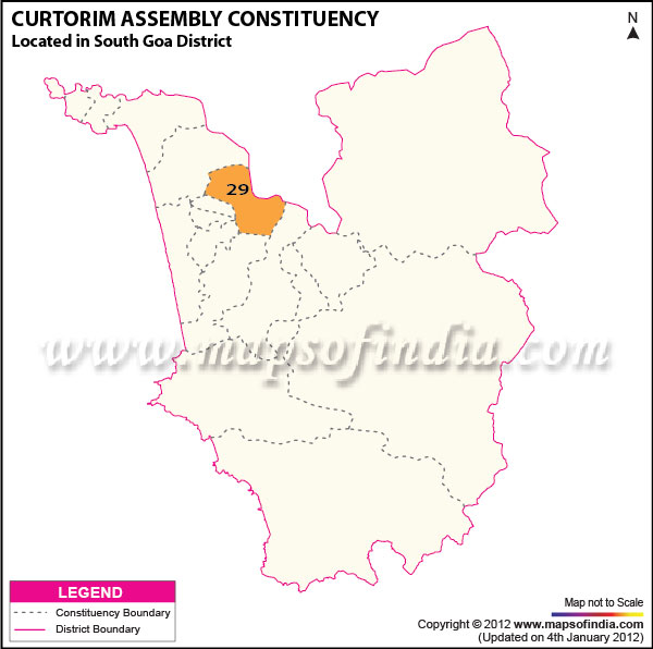 Assembly Constituency Map of Curtorim