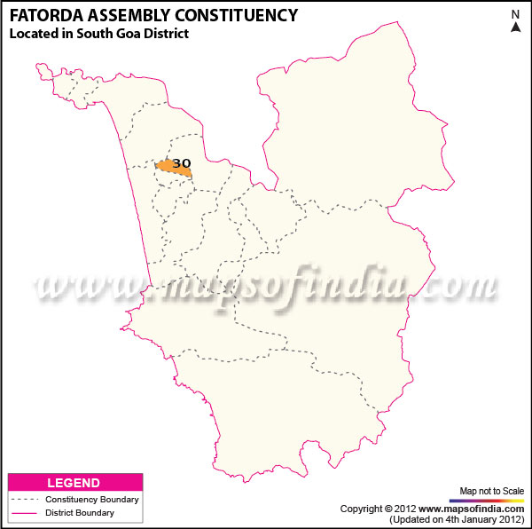 Assembly Constituency Map of Fatorda
