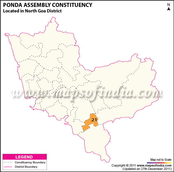 Assembly Constituency Map of Ponda