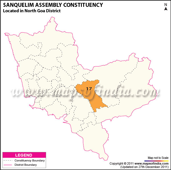 Assembly Constituency Map of Sanquelim