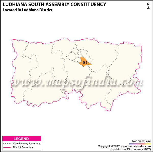 Assembly Constituency Map of Ludhiana South