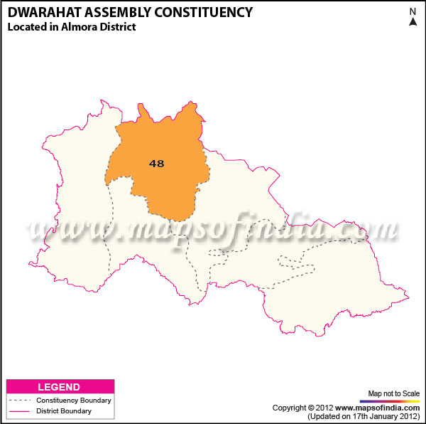 Assembly Constituency Map of Dwarahat