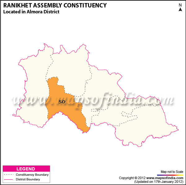 Assembly Constituency Map of Ranikhet