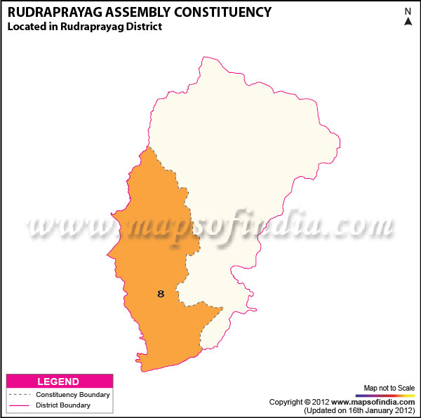 Assembly Constituency Map of Rudraprayag