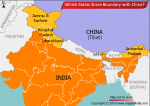 Which States Share Boundary with China?