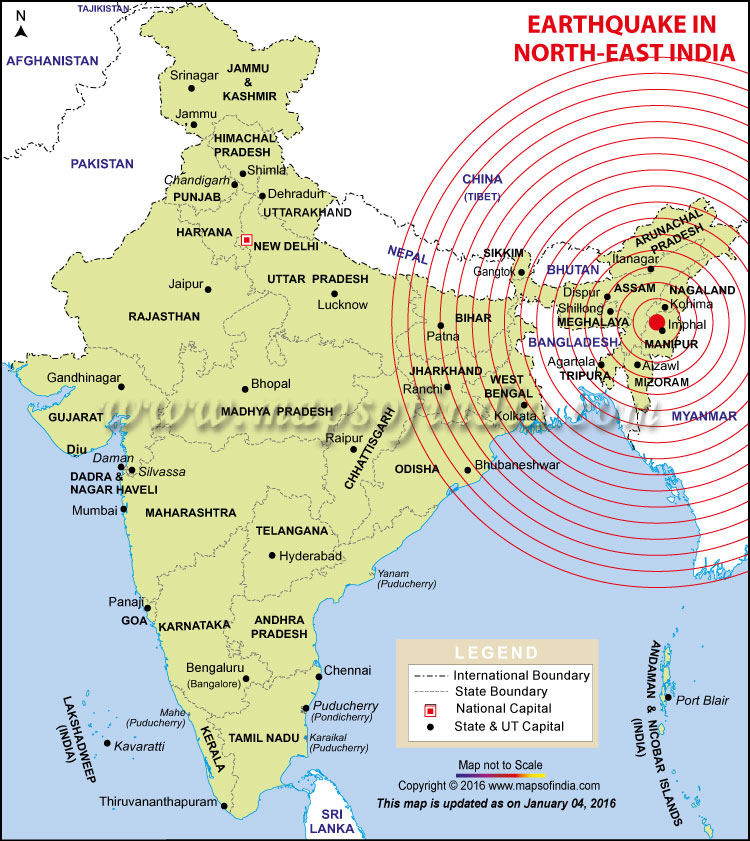 Areas Affected By Earthquake In India Bihar West Bengal Assam Map In News