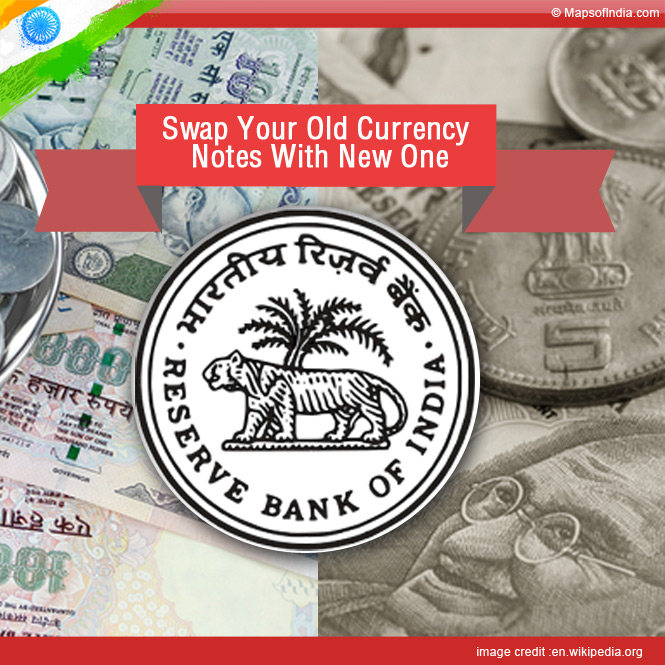 Swap your old currency notes with new one