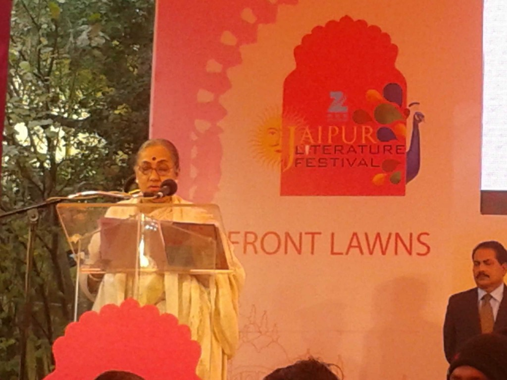 Margret Alva at Jaipur Literature Festival