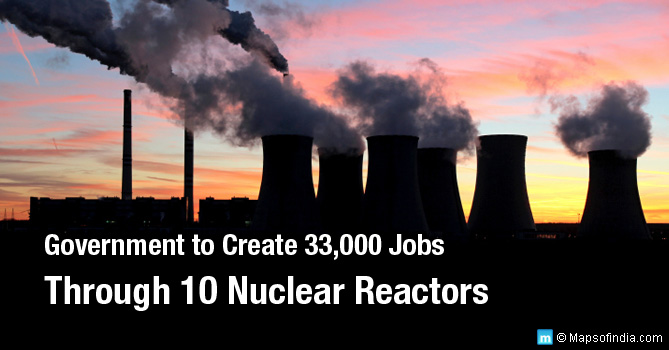 10 new nuclear reactors in India