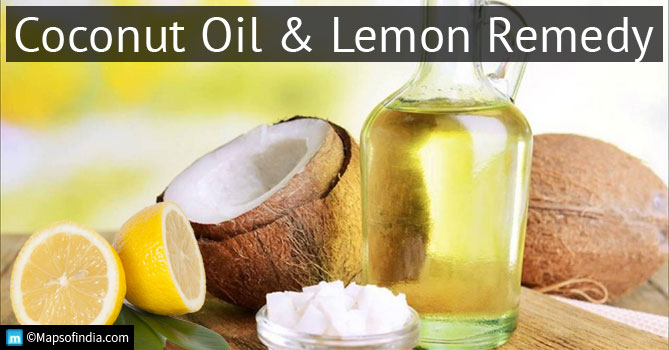 Coconut oil and lemon remedy