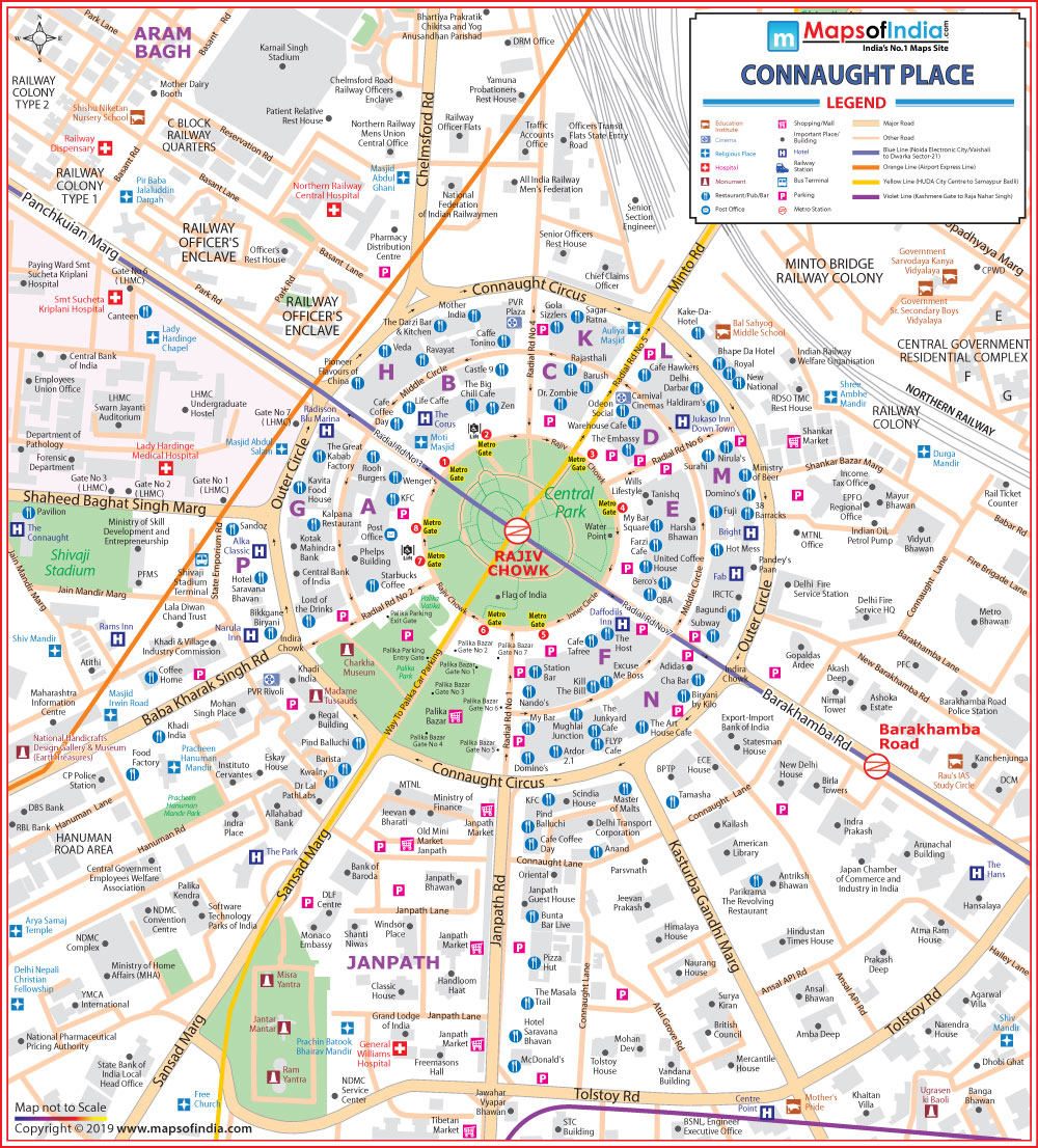 map of connaught place Connaught Place New Delhi Map My India map of connaught place