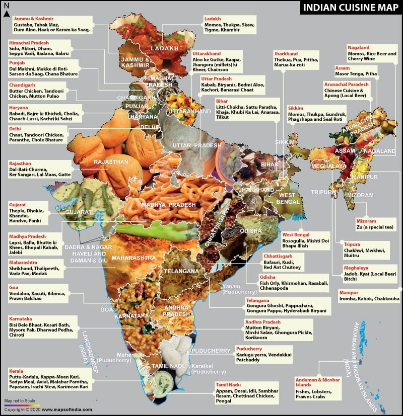 Indian Cuisine Map