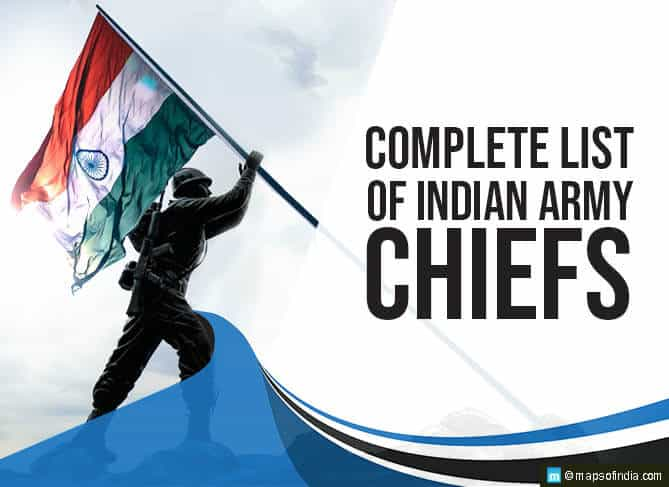 Complete List of Indian Army Chiefs