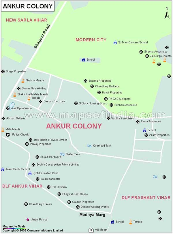 Ankur Colony Map