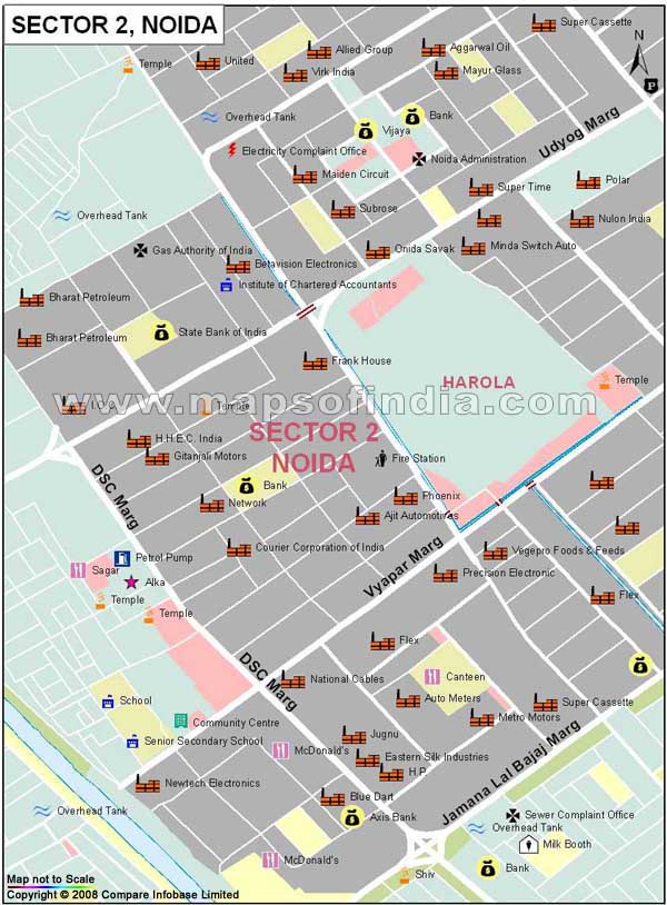 Sector 2 Noida Map