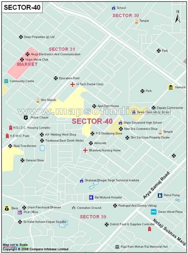 Sector 40 Gurgaon Map