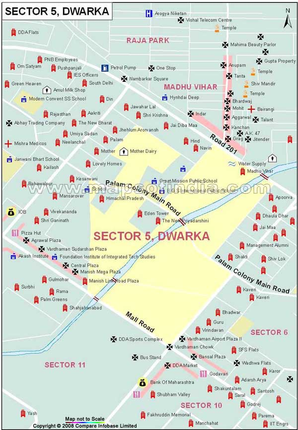 Sector 5 Dwarka Map