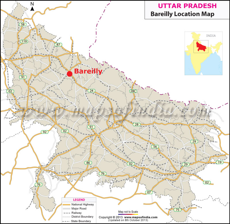 Bareilly Location Map