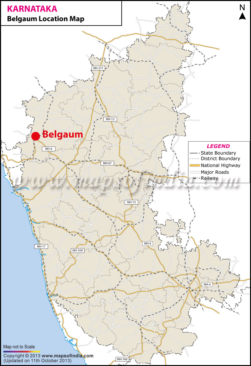 Belgaum Location Map Where is Belgaum
