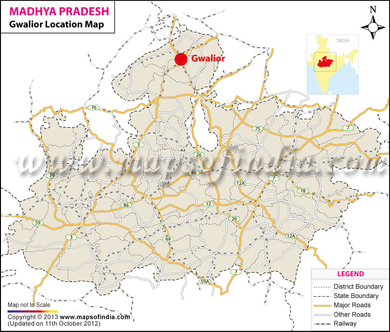 political gwalior in india map Gwalior Location Map Where Is Gwalior political gwalior in india map