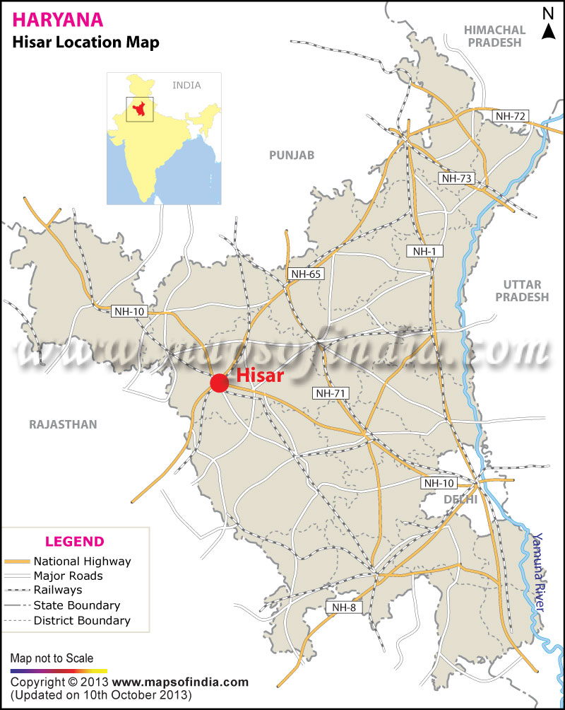 Hisar Location Map