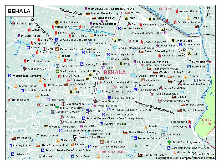 Behala Map, Kolkata - Maps Of India