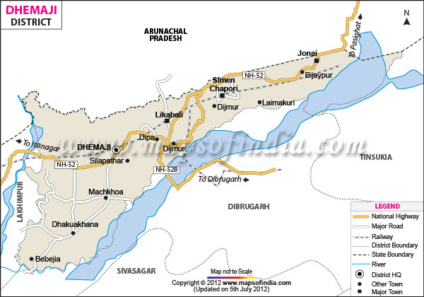 District Map of Dhemaji