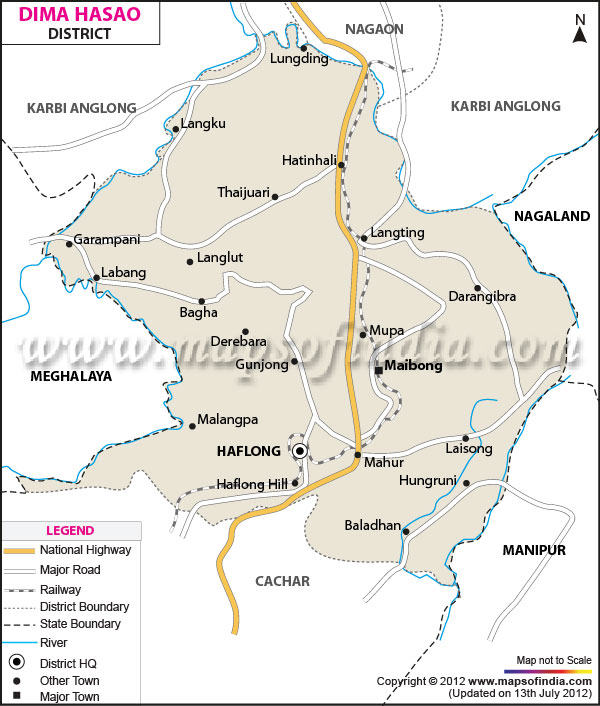 District Map of Dima Hasao