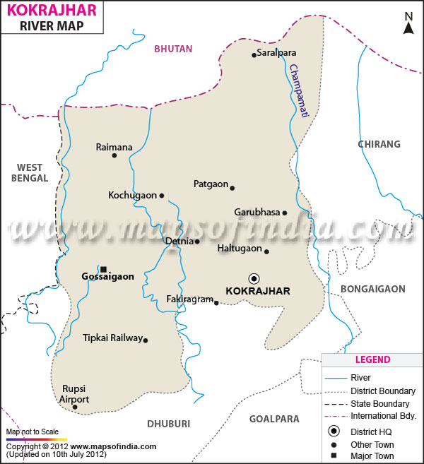 River Map of Kokrajhar