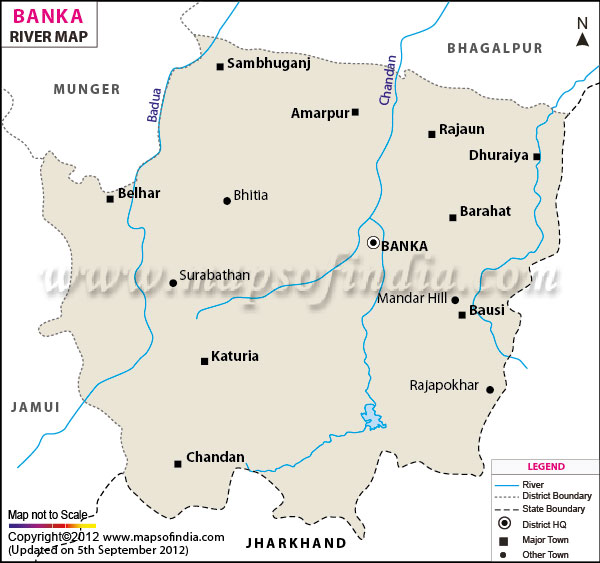 River Map of Banka
