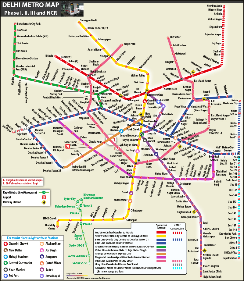 Subway Map Of Park Slope.Delhi Metro Phase 3 Map