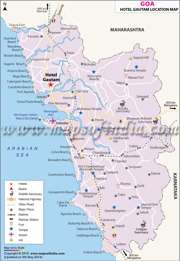 Map of Gautam Hotel Goa