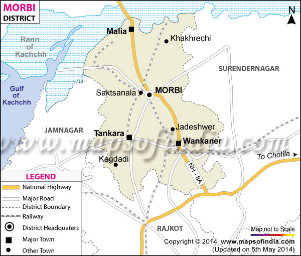 Morbi District Map - Morvi map