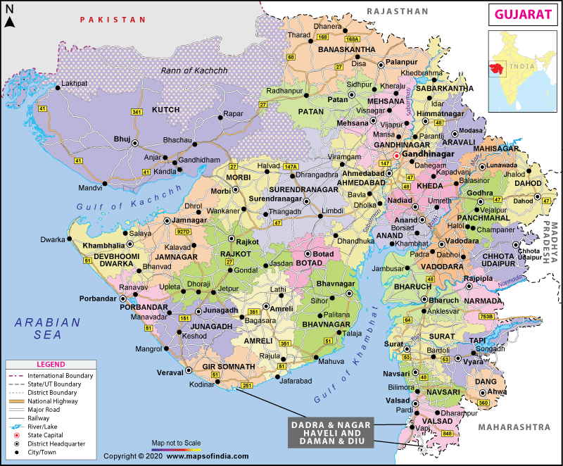Map of Gujarat