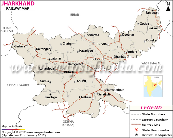 railway map of jharkhand