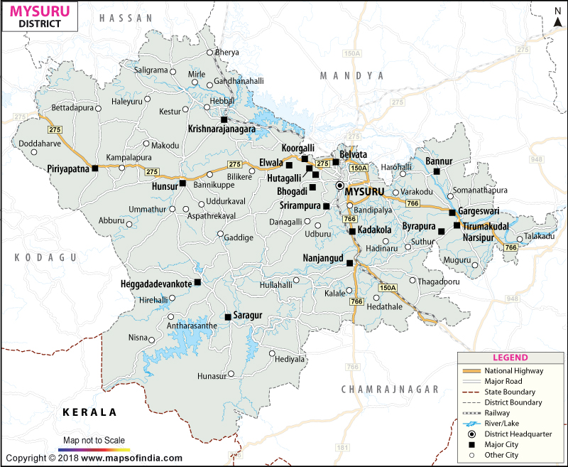 District Map of Mysore