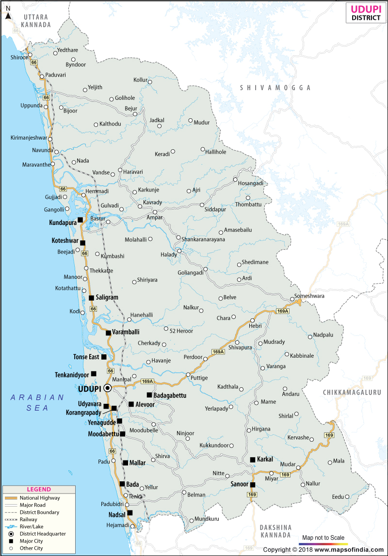 District Map of Udupi