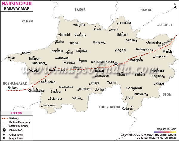Railway Map of Narsinghpur