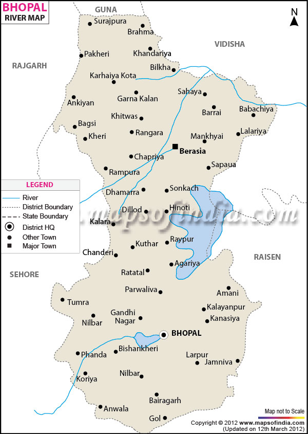 River Map of Bhopal