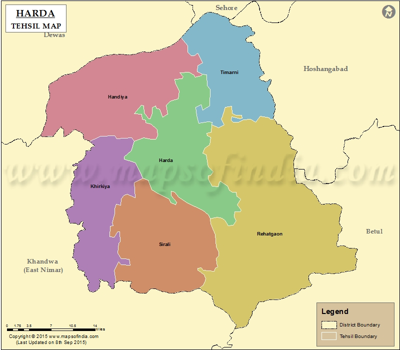Tehsil Map of Harda