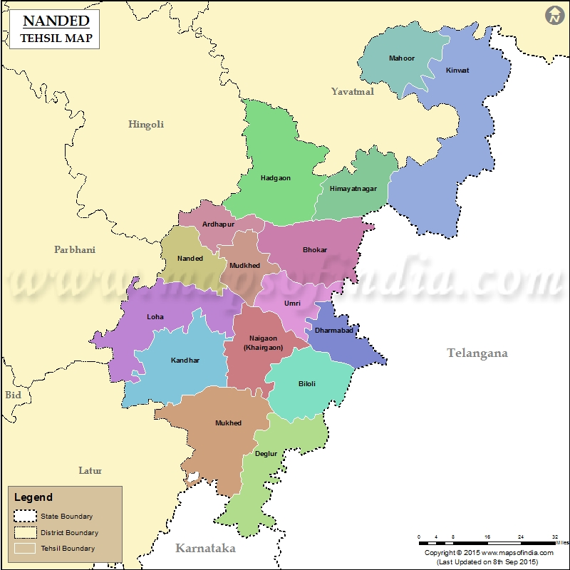 Tehsil Map of Nanded