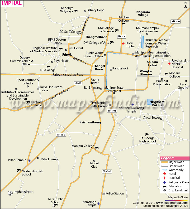 Imphal City Map