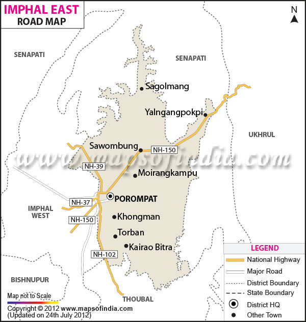 Road Map of Imphal East
